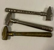 Vintage Hard Candy Miniature Sledge Hammer Sees Dairy Maid - Lot Of 3