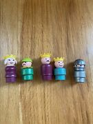 Fisher Price Little People King Queen Knight Kids From Family Castle 993 Vtg