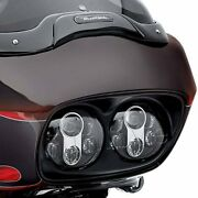 Dual 5-3/4 Motorcycle Projector Daymaker Led Headlight For 2004-2013 Road Glide