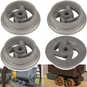 Mining Ore Car Small Track Mine Cart Wheel Cast Iron 7 1/4 Dia Fit For Lg 4pack