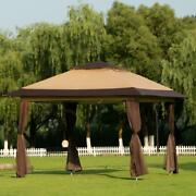 12'x12' Outdoor Canopy Tent Party Steel Gazebo Bbq Party Tent Shelter Shade