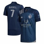 Johnny Russell Sporting Kansas City Adidas 2021 Secondary Authentic Player
