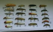 Lot Of 22 Vintage Lures - Heddon C.c.b. Co. Luck Strike And More Nice Lot