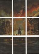 The Hobbit Five Armies - Cryptonium Smaug Puzzle Set Of 9 Chase Cards S1-s9