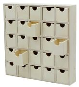25 Drawer Wooden Advent Calendar Diy Unfinished Storage Box Ready To Decorate
