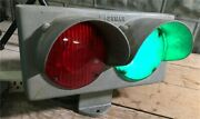 Lashmer Erie Parailroad Train Track Switch Light, Vintage Red Green Rr Light,