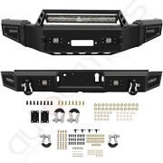 Style - Front Rear Bumper Built-in 5 Led Lights For 2018-2020 Ford F 150