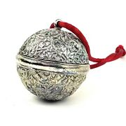 Mma Metropolitan Museum Of Art Silver Plated Pewter Sphere Christmas Ornament