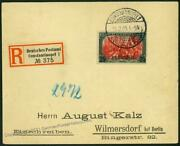 German Turkey 25 Piaster Mit Dach Crossed A 5 Mark Ef Registered Cover 59409