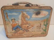 Rare Vintage 1954 Universal Gene Autry Melody Ranch Western Lunch Box No Thermos