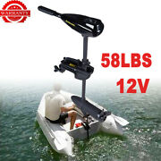 58lbs Electric Trolling Motor Outboard Engine Inflatable Fishing Boat Motor 12v