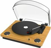 Vinyl Turntable Record Player With Built-in Bluetooth Receiver And2 Stereo Speaker