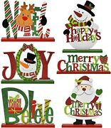 6 Christmas Table Top Decorations Multiple Uses Adorable Indoor Living Room Home