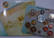 Italy 2004 Official Italian Uncirculated Mint Coin Set W/ Silver 5 Euro