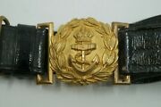 Pre Ww1 Canadian British Rcn Rn Navy Officers Sword Belt And Hangers