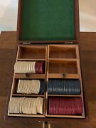 127 Vintage Clay Horse And Jockey Poker Chips Highly Collectible And Case