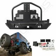 Rear Bumper W/ Tire Carrier 2x Leds W/o Fuel Containers For 07-18 Jeep Wrangler