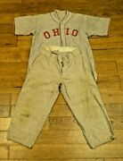 Very Rare 1930and039s Early 1940and039s Ohio State Baseball Full Uniform