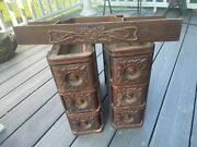 Antique Singer Treadle Sewing Machine Wood Drawers 7 Nice Ornate Boxes And Frame