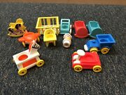 Vintage Fisher Price Little People Baby Bib And Bonnet And Toys 656 And 761 And More
