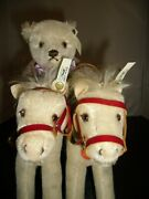 Steiff Golden Age Of The Circus Bear Back Rider With Two White Horses Limited Id