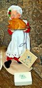 1988 Annalee Mobilitee 10 Mrs. Claus W/christmas Turkey New In Box Free Ship