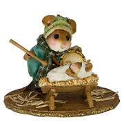 Wee Forest Folk Little Drummer Boy, Wff M-603, Retired Christmas Nativity Mouse