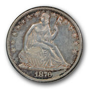 1876 Cc 50c Seated Liberty Half Dollar Extra Fine To About Uncirculated R535