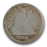 1882 25c Liberty Seated Quarter About Good Ag Low Mintage R823