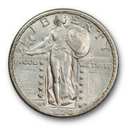 1920 D 25c Standing Liberty Quarter About Uncirculated To Ms Full Head Fh Tough