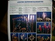Lighted Outdoor Silhouetteschristmas Holy Family Complete Set