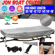 Heavy Duty Jon Boat Cover 10ft/10-12ft/12-14ft/14-16ft L All Weather Protection