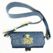 British Victorian Officers Leather Cross Belt And Pouch Hobsons