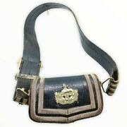 British Victorian Gloucestershire Volunteer Officers Crossbelt And Pouch