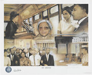 Rosa Parks - Printed Art Signed Co-signed By Anthony Douglas