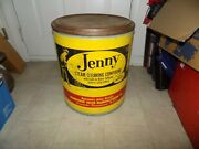Vintage Tub Can Of Jenny Steam Cleaning Compund 100lb Can Empty Has Pin Up Logo