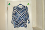 Alfred Dunner Plus Size 2x Top Classics F1 Sapphire New With Tags