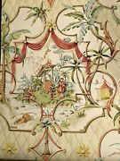 Schumacher Wallpaper Chinese Pavilion Oop Pattern New Nos Large Lot Nos Luxury