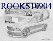 2007 Shelby Gt500 Collage Classic Car Art Print