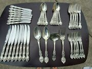 Wallace Sterling Silver 52 Pieces Service For Eight La Reine Pattern