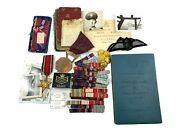Canadian Rcaf Crewman Log Book Home And International Medal Photo Grouping