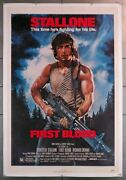 First Blood 1982 3536 Movie Poster 27x41 Sylvester Stallone Art By Drew St