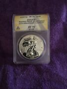 2006-p 1 Reverse Proof Silver Eagle Pf 70 D Cam Anacs From 20th Anniversary Set