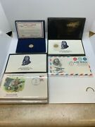 2 1977 50th Ann Charles Lindbergh Commemorative Gold Pieces And First Day Covers