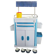 Medical Anesthesia Cart W/ Accessory,abs Plastic Mobile Storage Trolley Cart New
