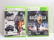 Battlefield Video Game Lot Xbox 360 Bad Company 2 3 Disk M3