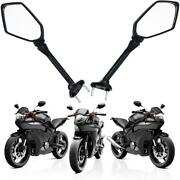 Fovplue Long Rear View Mirrorsmotorcycle Left And Right Mirrors Adjustment For