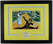 Ray Bolger The Wizard Of Oz Autograph Signed And039scarecrowand039 Framed Display Acoa