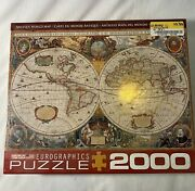 Eurographics Antique Map Of The World Jigsaw Puzzle 2000 Piece New Sealed Books
