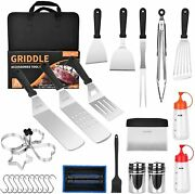 30 Pcs Grill Accessories Set Griddle Tool Kit Outdoor Bbq Barbecue Tool